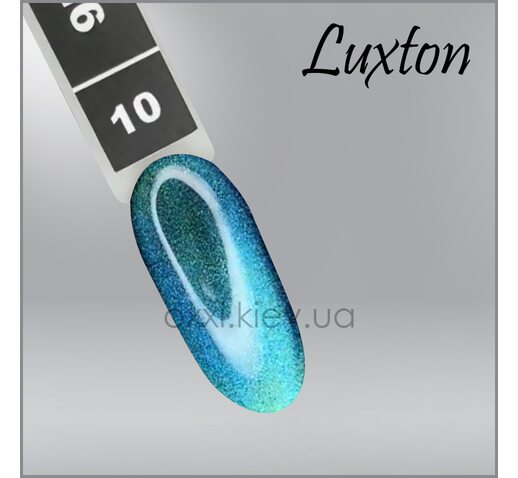 Гель-лак LUXTON 9D Cat 10 бирюзово-синий, магнитный, 10мл