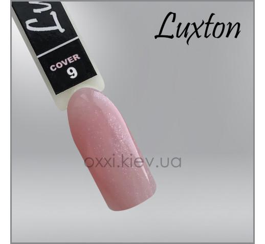 Камуфлирующая база для гель-лака LUXTON Cover Base 9, розовый с перламутром и шиммерами, эмаль, 15мл