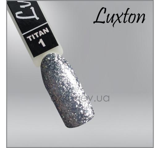 Гель-лак LUXTON Titan 001 серебристые блестки, 10мл