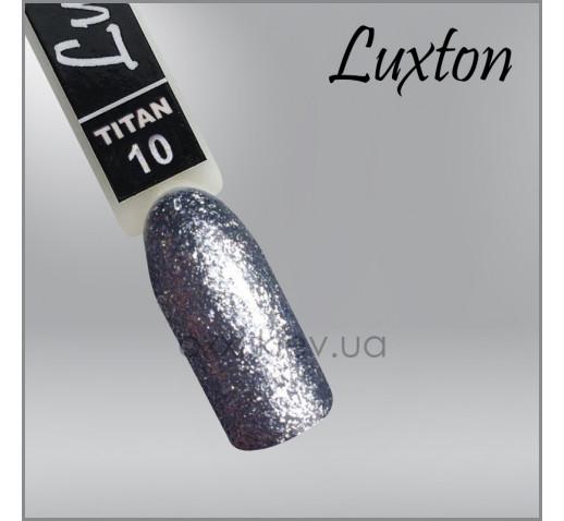 Гель-лак LUXTON Titan 010 серый с блестками, 10мл