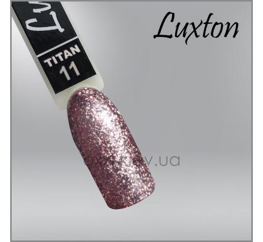 Гель-лак LUXTON Titan 11 розовое золото с блестками, 10мл