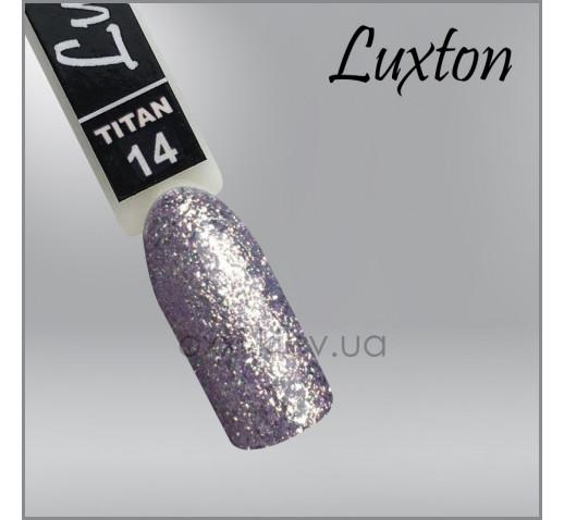 Гель-лак LUXTON Titan 014 серебристый с блестками, 10мл