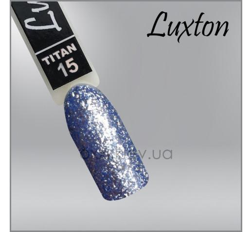 Гель-лак LUXTON Titan 015 голубой с блестками, 10мл