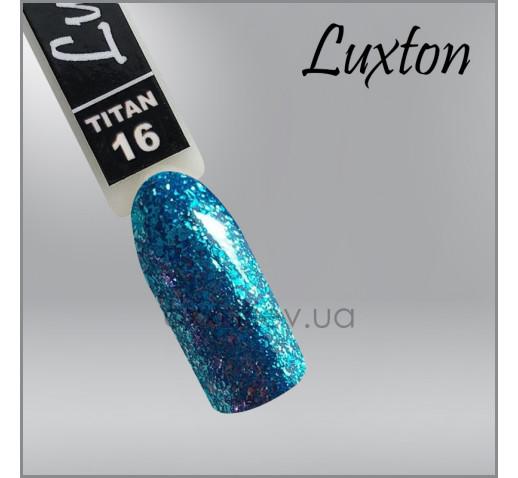 Гель-лак LUXTON Titan 16 бирюзовый с блестками, 10мл