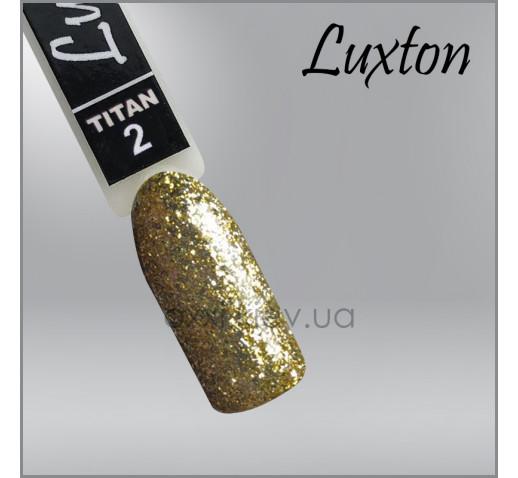 Гель-лак LUXTON Titan 002 золотистые блестки с слюдой, 10мл