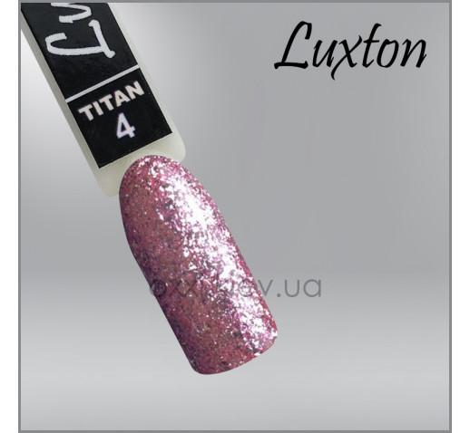 Гель-лак LUXTON Titan 4 розовый с блестками, 10мл