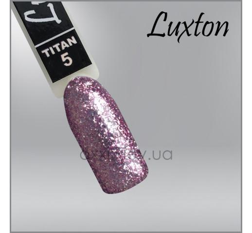 Гель-лак LUXTON Titan 005 сиреневый с блестками, 10мл
