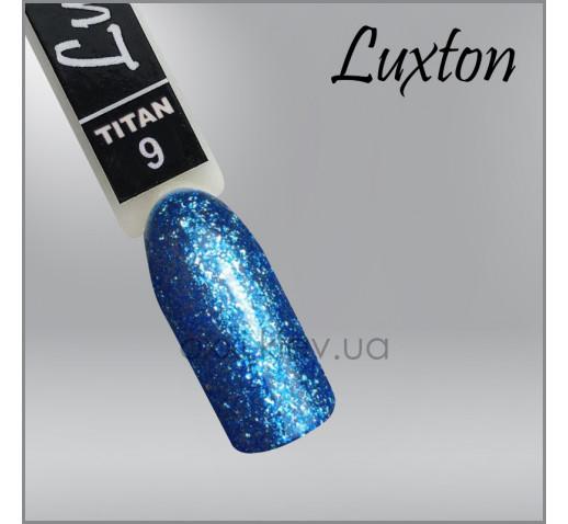 Гель-лак LUXTON Titan 009 голубой с блестками, 10мл