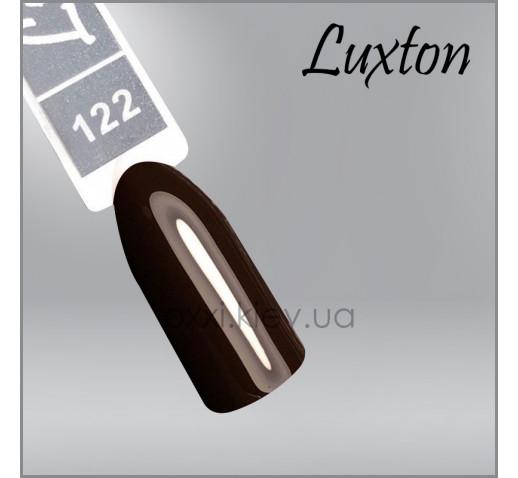 Гель-лак LUXTON 122 темно-коричневый, эмаль, 10мл