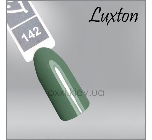 Гель-лак LUXTON 142 темно-зеленый, эмаль, 10мл