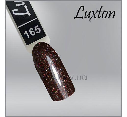 Гель-лак LUXTON 165 шоколадный с блестками, 10мл