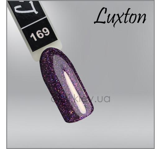 Гель-лак LUXTON 169 красно-фиолетовый с цветным шиммером, 10мл