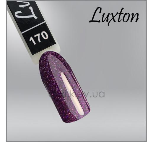 Гель-лак LUXTON 170  баклажановый с блестками, 10мл