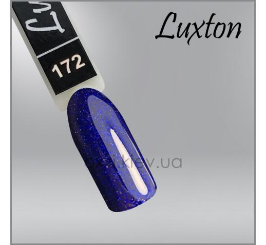 Гель-лак LUXTON 172 глубокий синий с цветным шиммером, 10мл