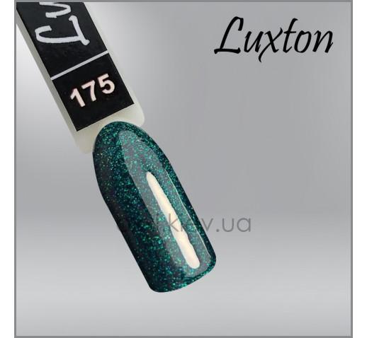 Гель-лак LUXTON 175 зеленый с цветным шиммером, 10мл