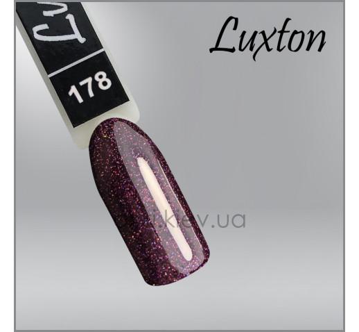 Гель-лак LUXTON 178 винная слива с цветными шиммерами, 10мл