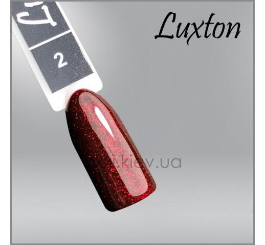 Гель-лак LUXTON 2 винный с красными блестками, 10мл