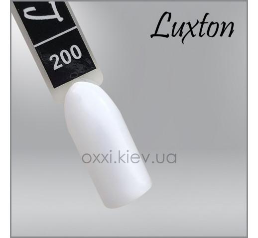Гель-лак LUXTON 200 яркий белый, эмаль, 10мл