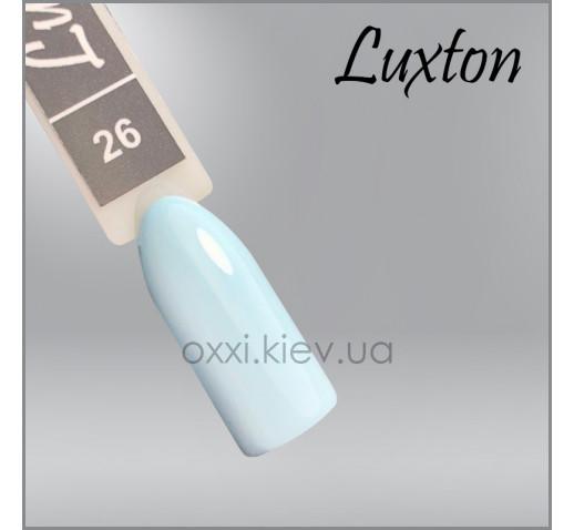 Гель-лак LUXTON 026 голубой, эмаль, 10мл