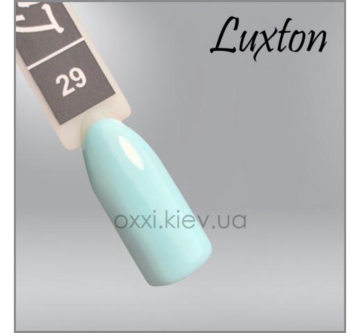 Гель-лак LUXTON 029 бирюзовый с микроблеском, 10мл