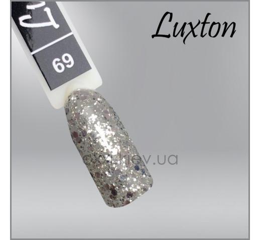 Гель-лак LUXTON 069 серебряные конфети и блестки, 10мл