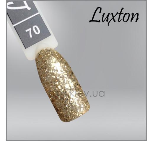 Гель-лак LUXTON 070 бронзово-золотистые конфетти и блестки, 10мл