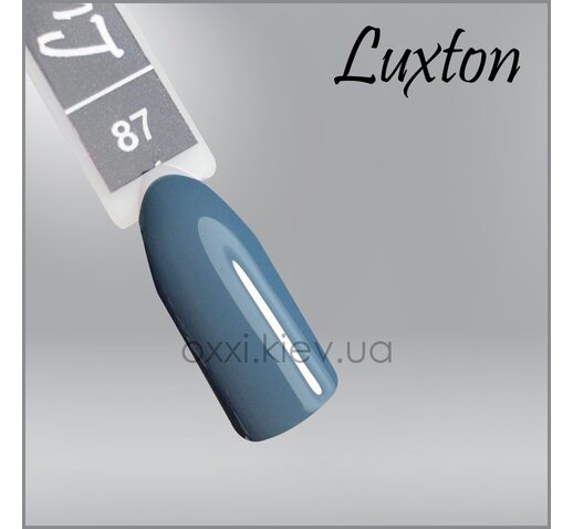 Гель-лак LUXTON 087 серо-бирюзовый, 10мл