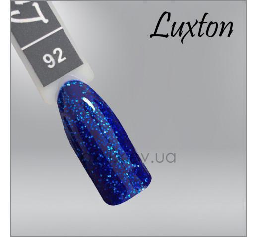 Гель-лак LUXTON 092 голубо-синий микроблеск, 10мл