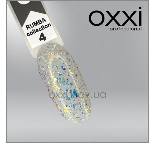 Гель-лак Rumba Oxxi 4, салатово-золотистый микс слюды на прозрачной основе, 10мл