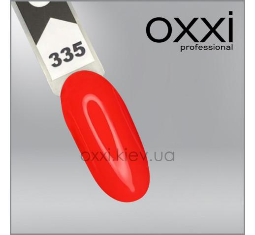 Гель-лак Oxxi 335, огненно-коралловый, 10мл