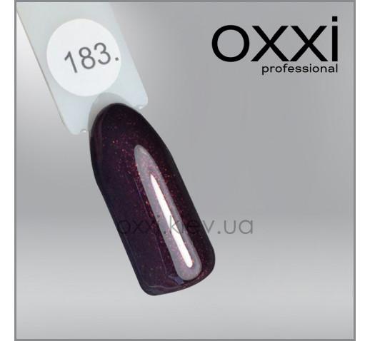Гель-лак Oxxi 183 темный вишневый, микроблеск, 10мл
