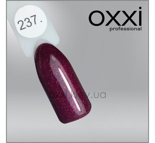 Гель-лак Oxxi 237 винный, микроблеск, 10мл