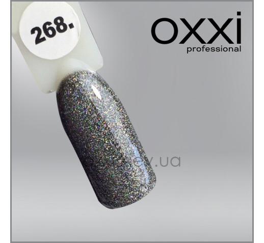 Гель-лак Oxxi 268 черный, микроблеск, 10мл