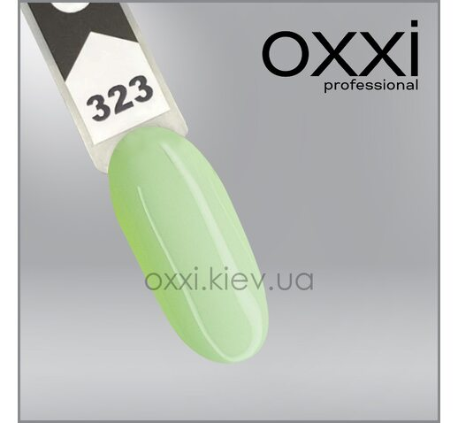 Гель-лак Oxxi 323, светлый мятно-салатовый, 10мл