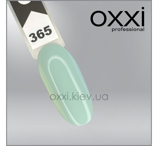 Гель-лак Oxxi 365, нежно-ментоловый, эмаль, 10мл